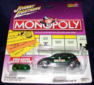 Monopoly Johnny Lightning car