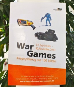 War Games poster, War Games exhibit, Munster, Germany